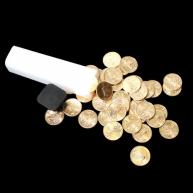 Zlaté mince v originální tubě z mincovny